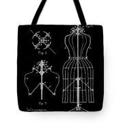 Dress Form Patent 1891 Black Tote Bag