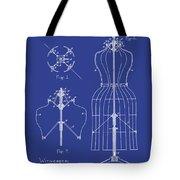 Dress Form Patent 1891 Blue Tote Bag
