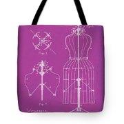 Dress Form Patent 1891 Pink Tote Bag