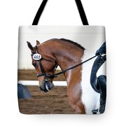 Dressage Show Horse Tote Bag