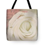 Dressed In White Satin Tote Bag