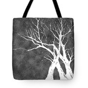 Dressed In Winter White Tote Bag