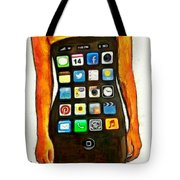 Dressing Iphone Tote Bag