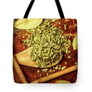 Dried Chives In Wooden Spoon Tote Bag