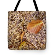 Dried Leaf On The Fern Tote Bag