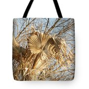 Dried Palm Fronds In The Wind Tote Bag