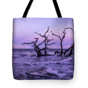 Driftwood In The Waves Tote Bag