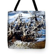 Driftwood Lace Tote Bag
