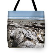 Driftwood On The Beach Tote Bag