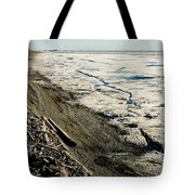 Driftwood On The Frozen Arctic Coast Tote Bag