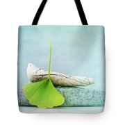 Driftwood Stones And A Gingko Leaf Tote Bag