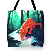 Drinking At The Stream Tote Bag