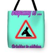 Drinking Bigstock Donkey 171252860 Tote Bag
