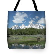 Drinking Buffalo Tote Bag