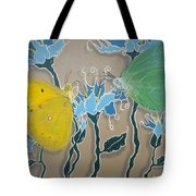 Drinking Coffee At The Blue Orchid Tote Bag