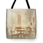 Drinking Coffee Tote Bag