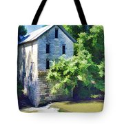 Drinkwater And Schriver Mill Cedar Point Kansas  Tote Bag