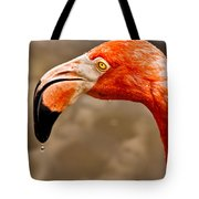 Dripping Flamingo Tote Bag