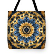 Dripping Gold Kaleidoscope Tote Bag