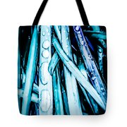 Dripping Teal Tote Bag