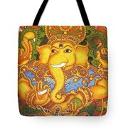 Drishti Ganapathi The Elephant Headed Hindu God Of Good Omens Tote Bag