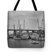 Drive By Tybee Island Shrimp Boat Art Tote Bag