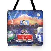 Drive-in Movie Theater Tote Bag