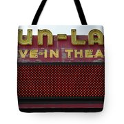 Drive Inn Theatre Tote Bag
