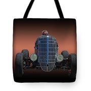 Driver And His Race Car Tote Bag