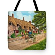 Driving A Jaunting Cart Tote Bag