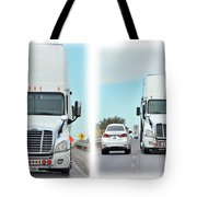 Driving In Reverse Tote Bag