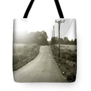 Driving Into The Setting Sun Tote Bag