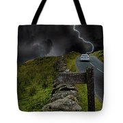 Driving Into The Storm Tote Bag