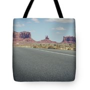 Driving Monument Valley Tote Bag
