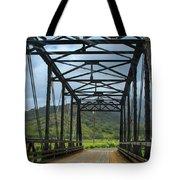 Driving Over Hanalei Bridge Tote Bag
