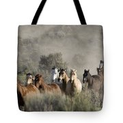 Driving The Horses Tote Bag