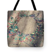 Drizzle Art On A Sidewalk Tote Bag