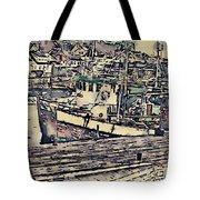 Drobak Harbor Tote Bag