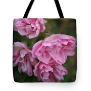 Droopy Pink Roses Tote Bag