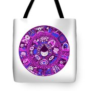 Drop Mandala Purple And Blue Tote Bag