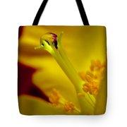 Drop On Flower Stalk Tote Bag