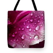 Droplets On Peony 1 Tote Bag