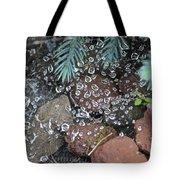 Droplets Over Web Tote Bag