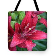 Dropplet Lilly Tote Bag