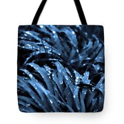 Drops And Blue Grass Tote Bag