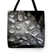 Drops On A Feather Tote Bag