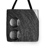 Drops On Steel Black And White Tote Bag