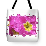 Bubbly Pink Raindrops  Tote Bag