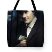 Drug Dealer With Marijuana Tote Bag