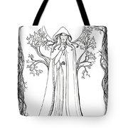 Druid Woman Shush Tote Bag